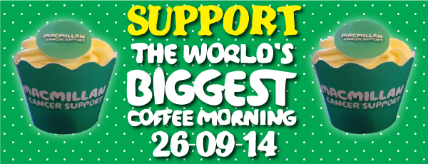 MacMillan Coffee Morning at Alva Academy