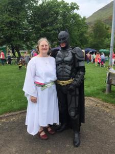 Lynn with Batman