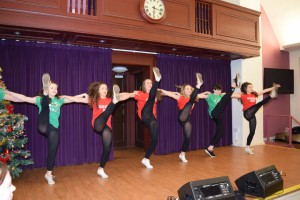 00020Alva Christmas Fayre '15 - Alva Academy Dancers high  kicks