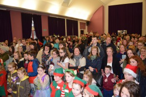 00050Alva Christmas Fayre '15 - Crowd watching Stevie