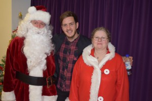 00090Alva Christmas Fayre '15 - Stevie with Mr & Mrs  Claus