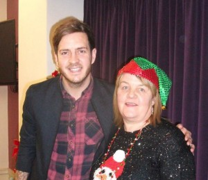 00100Alva Christmas Fayre '15 - Stevie with Sandra Rees